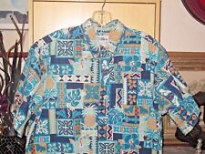 REYN SPOONER SHIRT ALOHA HAWAIIAN TROPICAL FLORAL BEACH PARTY DRESS SURFER MEN L