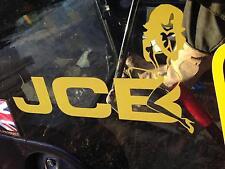 JCB Digger Trattore Decalcomania FUNNY GIRL SU Logo Adesivo x 2 stile NUOVO LOGO