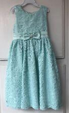 American Princess Girls Size 8 Spring Mint Green Aqua Teal Formal Dress NEW