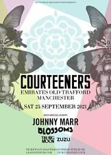 More details for courteeners old trafford 2021 print the gig event poster blossoms johnny marr