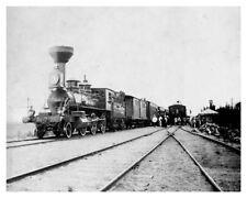 1899 Steam Engine On The Ussuri Line Trans-Siberian Railway Railroad Photo