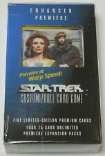 Decipher Star Trek Enhanced Premiere Beverly and Will CCG Sealed NEW