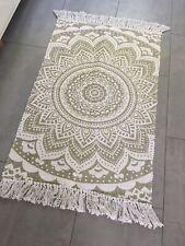 Läufer Mandala Muster Boho Boheme Baumwolle Teppich Neu 60x90 cm