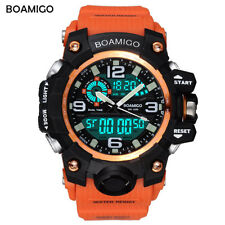 Boamigo 51mm Mens Waterproof sport Watch Digital LED Orange Shock Swim Quartz