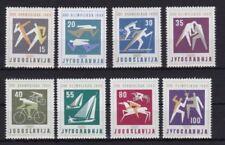 Echte Briefmarken aus Jugoslawien mit Motiven von den Olympischen Spielen als Satz