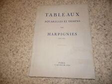 1934.Catalogue vente Harpignies (collection Arnold et Tripp).