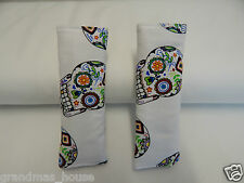 Baby Car Seat Belt Strap Covers  Highchair Stroller Pram - Sugar Skulls
