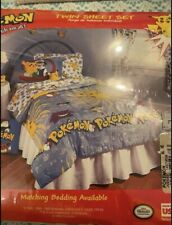 Pokemon Twin Sheet Set 1999 New Vintage