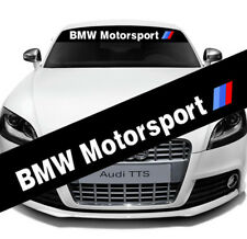 Auto Front Rear Windshield Banner Reflective Sticker Decal For BMW Motorsport