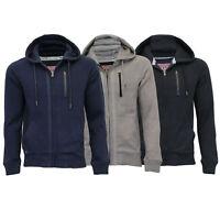Mens Sweatshirt Tokyo Laundry Jacket Hoodie Top Fleece Lined Casual Winter New
