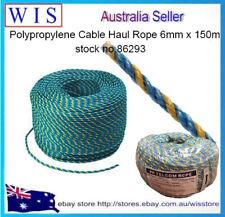 TELSTRA Rope 6mm x 150m,Polypropylene Blue/Yellow Rope,Telstra Pull Through Rope