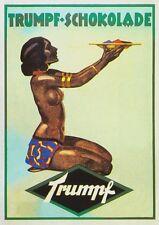 Trumpf Schokolade Plakat von Philip Zehbe um 1920 Faksimile 32 auf Büttenpapier