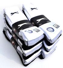 12 Paar SLAZENGER Socken Sportsocken Strümpfe 46 47 48 49 50 schwarz weiß grau