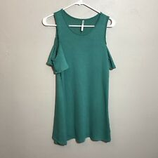 Tresics Luxe Juniors Cold Shoulder Teal Casual Dress Size S Small