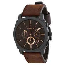 Máquina Fossil Cronógrafo Cuadrante Marrón Reloj para hombres FS4656