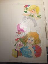 Boada, dibujo original en color firmado y reproducido, 25x45 cms.
