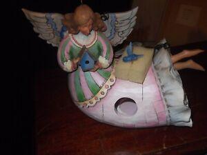 "JIM SHORE 2007 HEARTWOOD CREEK ""ANGEL FLOATING"" BIRDHOUSE 4010000"