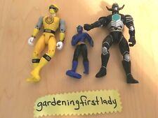 Power Rangers Action Figures Blue Black Yellow Bandai McD's 1998 2002 2011 VTG
