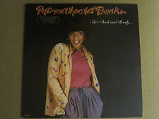PATRYCE CHOC'LET BANKS SHE'S BACK AND READY LP '80 T-ELECTRIC PROMO DISCO NM-