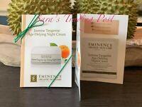 6 Eminence Jasmine Tangerine Age-Defying Night Cream Card Samples 3ml/.10oz + 🎁