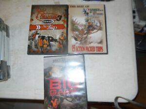 Buck Commander 3 WEAVER  THE BIGS  Hunting DVDS LOT OF 3 GANDER BUCKMASTERS