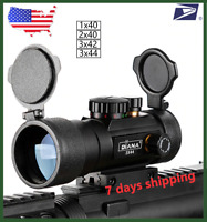 3X44 Green Red Dot Sight Scope Tactical Optics Riflescope for Hunting 11/20mm