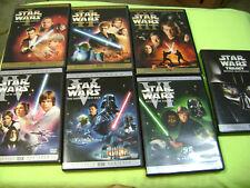 STAR WARS THE COMPLETE SAGA 1,2,3,4,5,6, DVD TRILOGY PREQUEL I,II,III,IV,V,VI