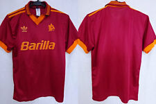 1992-1993 AS Roma Jersey Shirt Maglia Home Barilla Adidas S Rare Retro Vintage