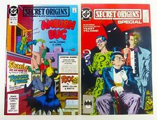 SECRET ORIGINS (1990) #48 AMBUSH BUG + (1989) Special #1 BATMAN VILLAINS VF/VF+