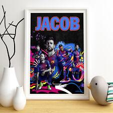 FC Barcelona personalizado cartel A4 Impresión Pared Arte Nombre Personalizado ✔ ✔ Entrega Rápida