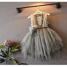 Flower Girl Princess Dress Toddler Baby Wedding Party Holiday Tulle Tutu Dresses