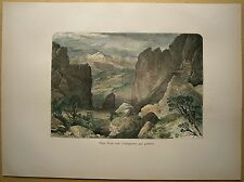 1884 print PIKES PEAK FROM GARDEN OF THE GODS, ROCKY MOUNTAINS, COLORADO (#54)