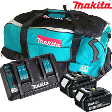 Makita 2 x BL1830 Battery + DC18RD Charger + LXT600 Bag For DDF458Z, DHP453Z