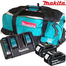 Makita 2 X BL1830 Batería + Cargador DC18RD + Bolsa De LXT600 para DTD152Z, DTD154Z