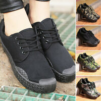Men's Work Flat Shoes Wear-resistant Camouflage Soft-soled Non-slip High Quality