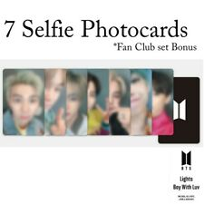 BTS - Lights - ❼ 7 Selfie Photocard - Fan Club set Bonus - Photocard Only