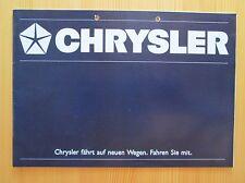 Chrysler Programm Prospekt, brochure, cataloque, 8/87