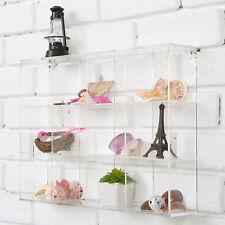 Wall Mounted Acrylic 12 Compartment Organizer /Freestanding  Bathroom Shelf