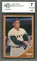 Willie Mays Card 1962 Topps #300 San Francisco Giants BGS BCCG 7
