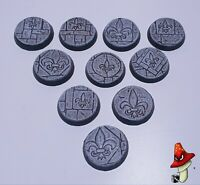32mm resin bases, sisters battle, sororitas, ruined sanctuary, inquisition 40k,