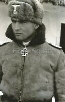 WW2 Picture Photo German Soldier with Winter Uniform 3339