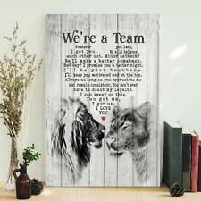 We are a Team Lion and Lioness Anniversary Poster Wall Art