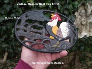 Vintage Rooster Cast Iron Trivet.21.5cm x14.5icm.AH4784.