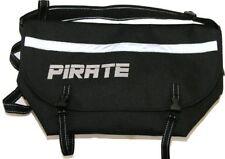 Pirate logo Small Black Bike Messenger Bag Reflective