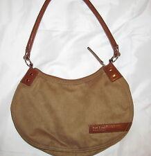MATT & NAT MONTREAL faux imitation suede caramel beige brown vegan shoulder bag