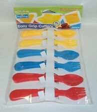SESAME STREET Beginnings Easy Grip Cutlery 3 Sets Forks/Spoons BPA Free NIP
