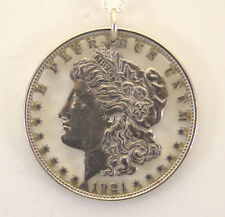 Morgan Dollar with Letters, Cut Out Coin Jewelry, Necklace