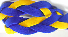 NEW! Royal Blue Yellow Grippy Bands Headband Hair Sport Soccer Softball Stretchy