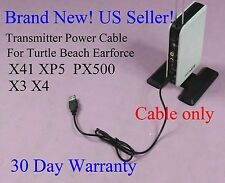 Transmitter Power cable for Turtle Beach X41 PX5 XP500 X3 X4 Tango 5ft/1.5M Cord