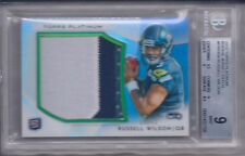 RUSSELL WILSON 2012 TOPPS PLATINUM ROOKIE JERSEY PATCH 30/71 #PRP-RW BGS 9